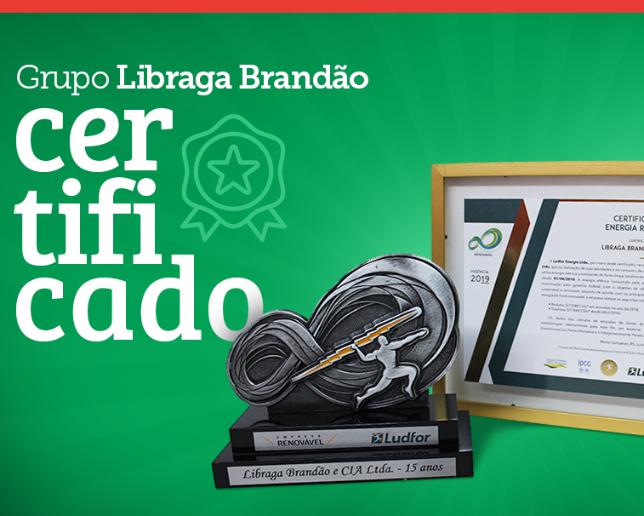 Grupo Libraga Brandão recebe Certificado de Energia Renovável