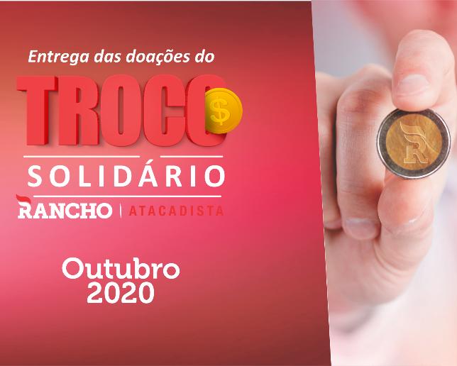 Confira as doações do Troco Solidário em outubro/2020