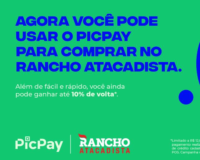Pague as compras com PicPay no Rancho Atacadista