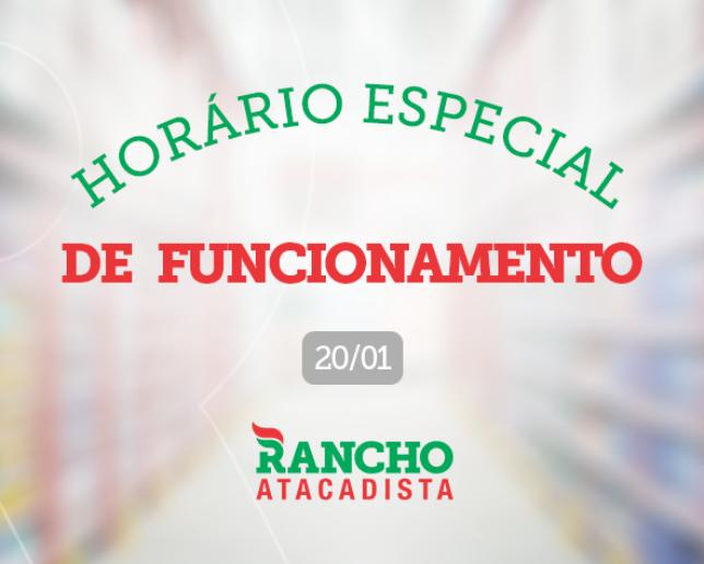 Horário especial de funcionamento em Venâncio Aires - 20/01