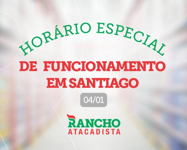 Horário especial de funcionamento em Santiago