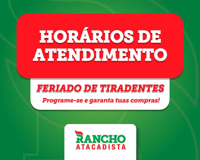 Horário feriado Tiradentes - 21 de abril